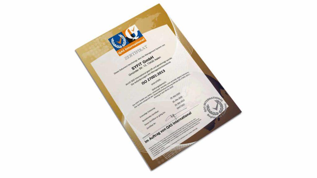 Zertifikat ISO27001:2013