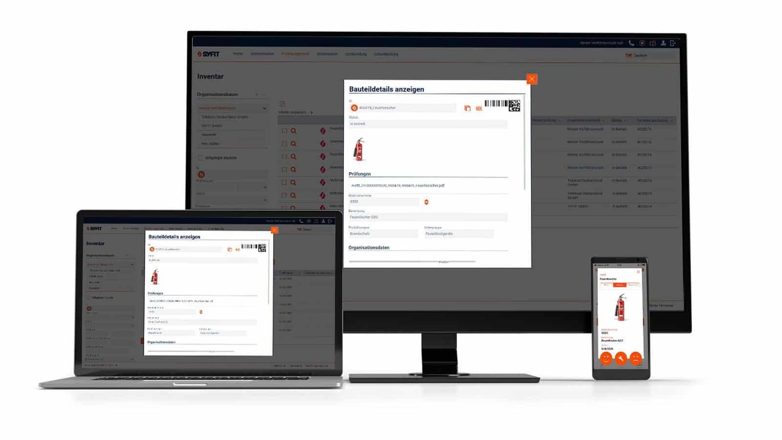 Webapplikation Betriebsmittelprüfung für unterschiedliche Geräte optimiert