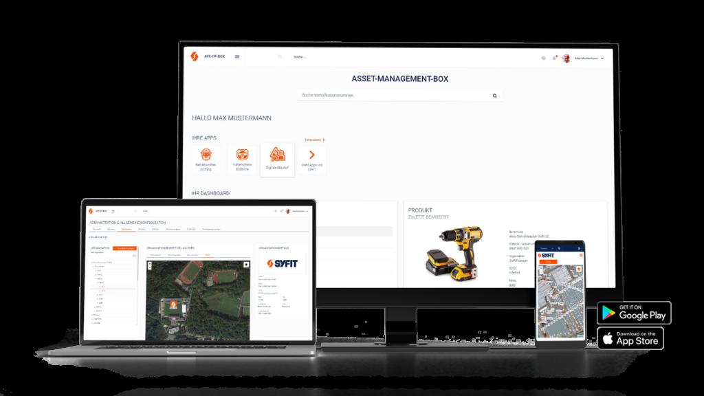 Webapplikation und dazugehörige App Digitaler Bau ist für unterschiedliche Geräte optimiert
