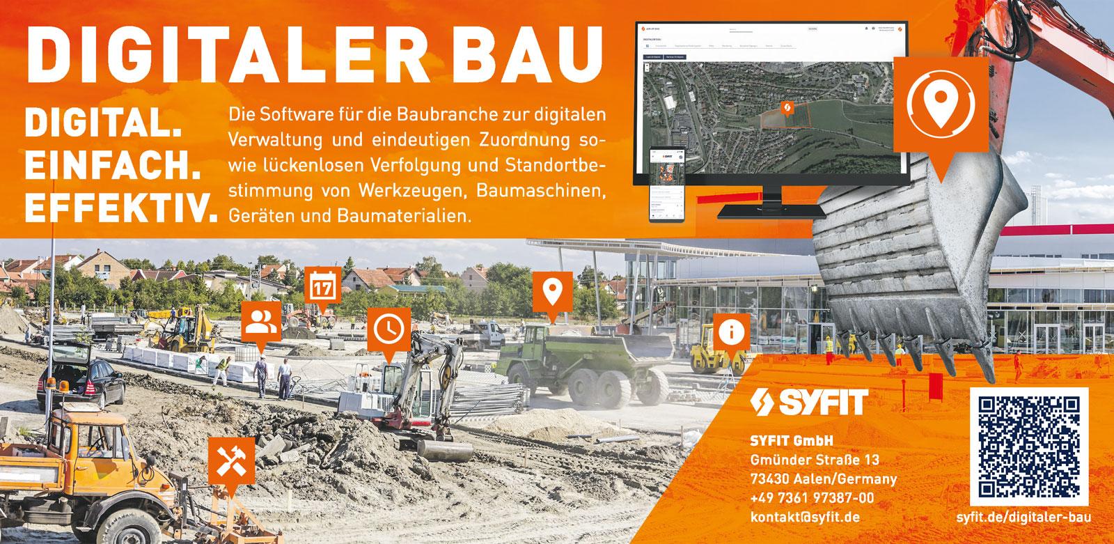 Anzeige Digitaler Bau